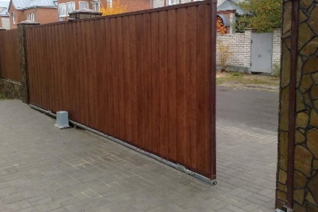Установка откатных ворот Яковлево
